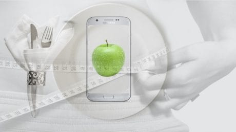 photomontage, plate, apple, diet, food, organic, health