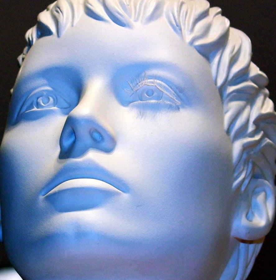 cara, retrato, arte, objeto, plástico, material, escultura, estatua, máscara