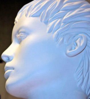 матеріалу, об'єкт, пластику, портрет, мистецтво, голова, скульптура