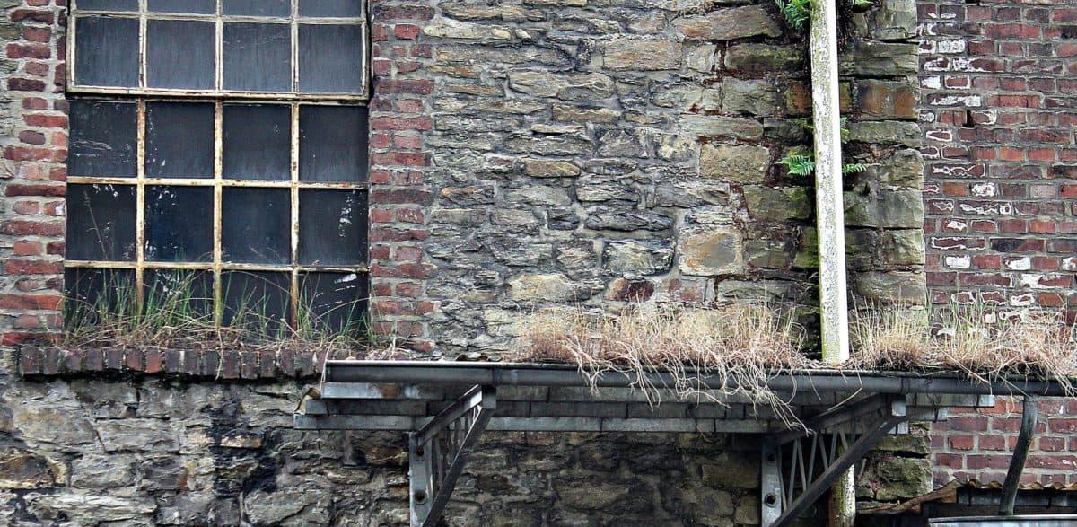 vinduet, arkitektur, hus, mur, gamle, murstein, utendørs, stein