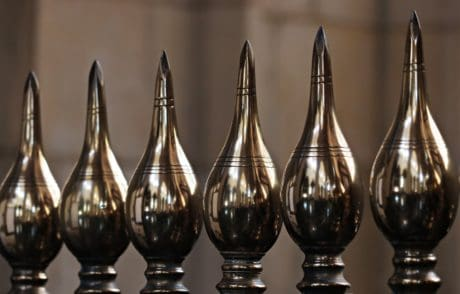 cast di ferro, ferro, acciaio inox, acciaio, oggetto, riflessione, metallo, recinzione, sfera