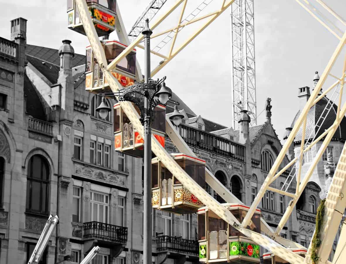 entertenment, mekanisme, park, hus, vindu, arkitektur, byen, konstruksjon, himmelen, stål