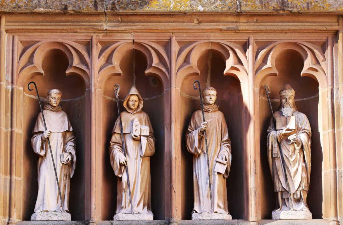 arquitectura, iglesia, arte, estatua, escultura, religión, fachada