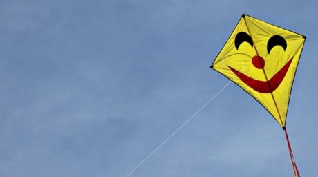 yellow kite, blue sky, outdoor, dragon, wind, fun, rope, toy