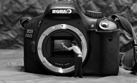 zoom, lente, analogico, apertura, macchina fotografica, la pulizia delle attrezzature,