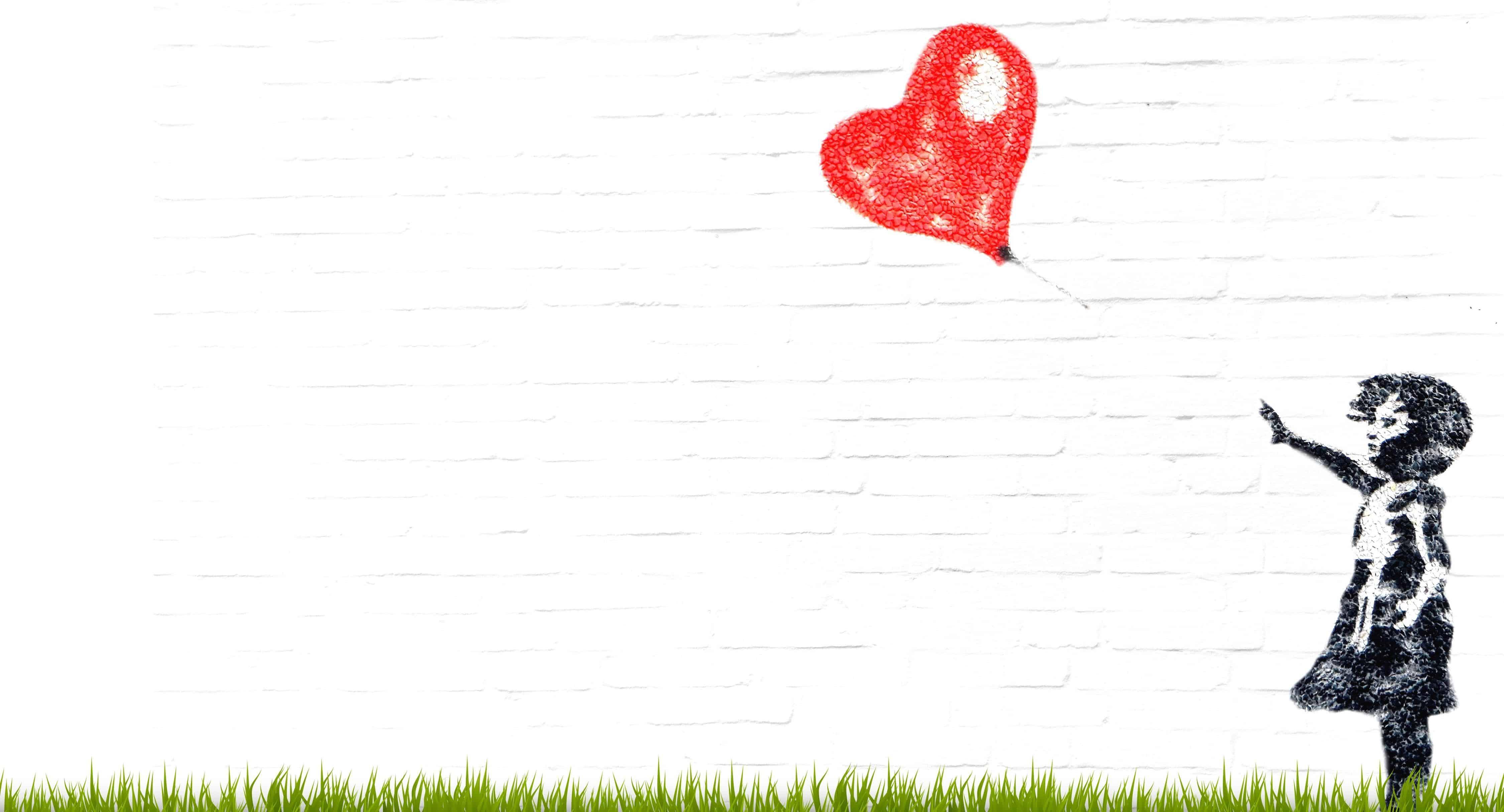 ücretsiz Resim Boyama Fotomontaj Kalp Balon çocuk çocuk Aşk