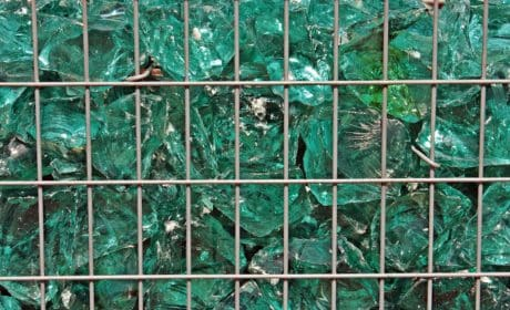 abstraction, green crystal, grid, reflection, metal