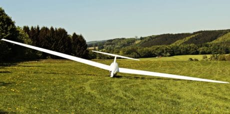 aircraft, landscape, sky, green grass, sport, outdoor, tree
