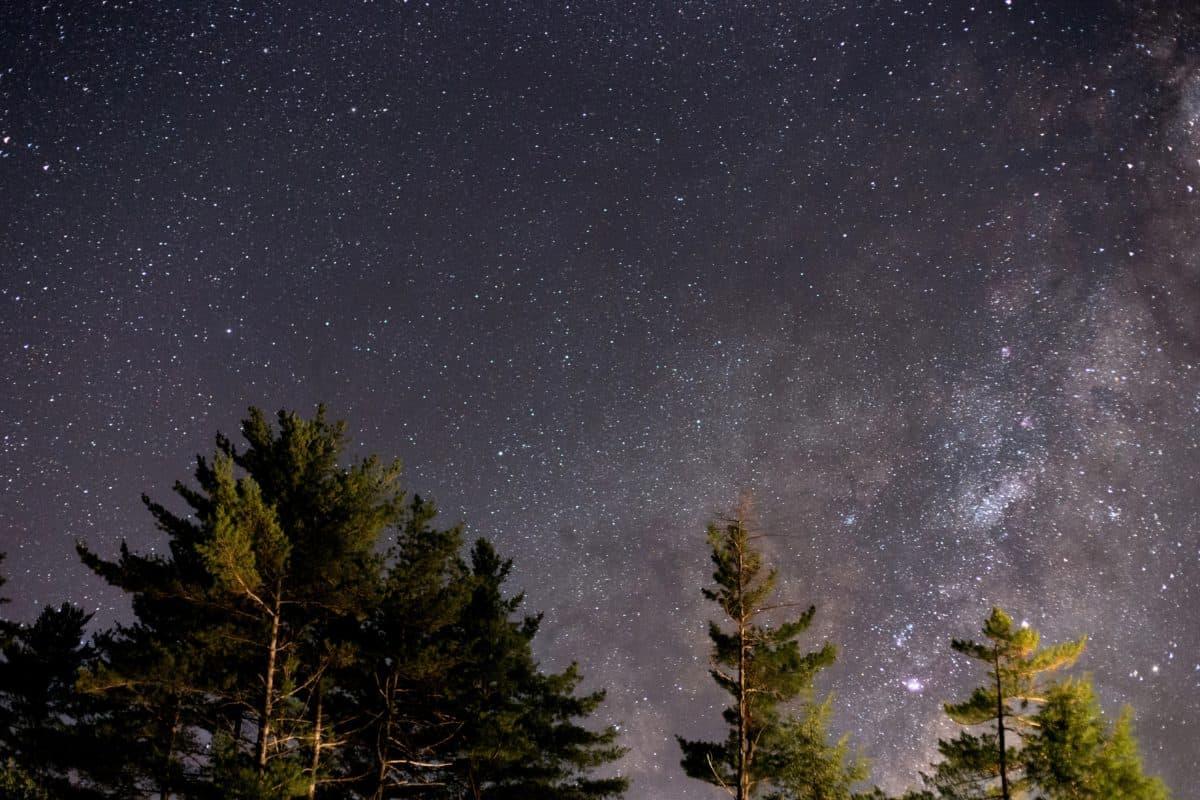 Созвездие, ночь, природа, небо, астрономия, снег, темно, Галактика