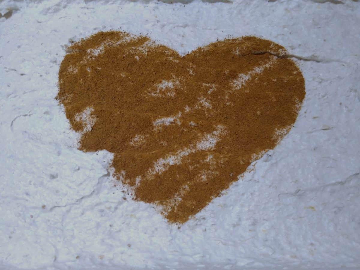 torta, hranu, ljubav, smeđe srce, ukras