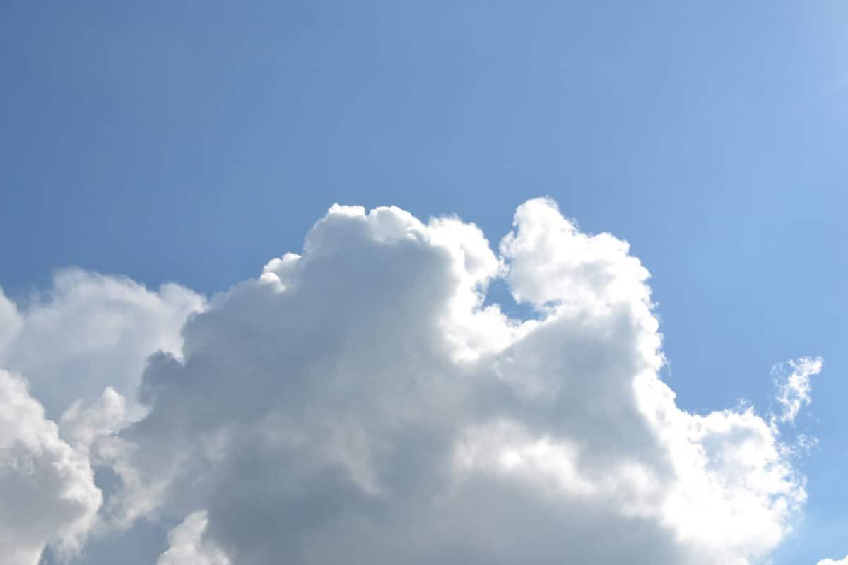 modrá obloha, léto, ozónu, vítr, příroda, slunce, vysoká, atmosféra, mrak