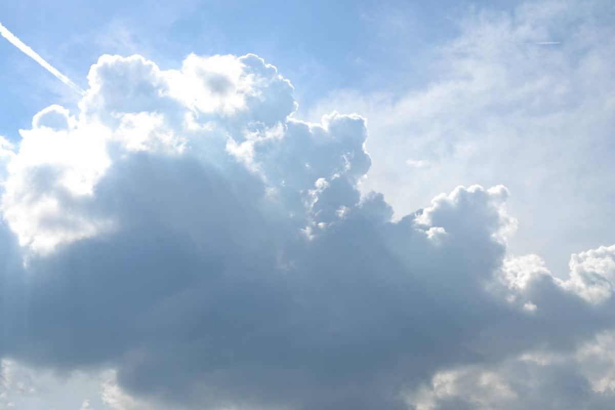 meteorologi, sky, mulet, natur, sommar, grumlighet, solsken, fukt, hög, solen, atmosfär
