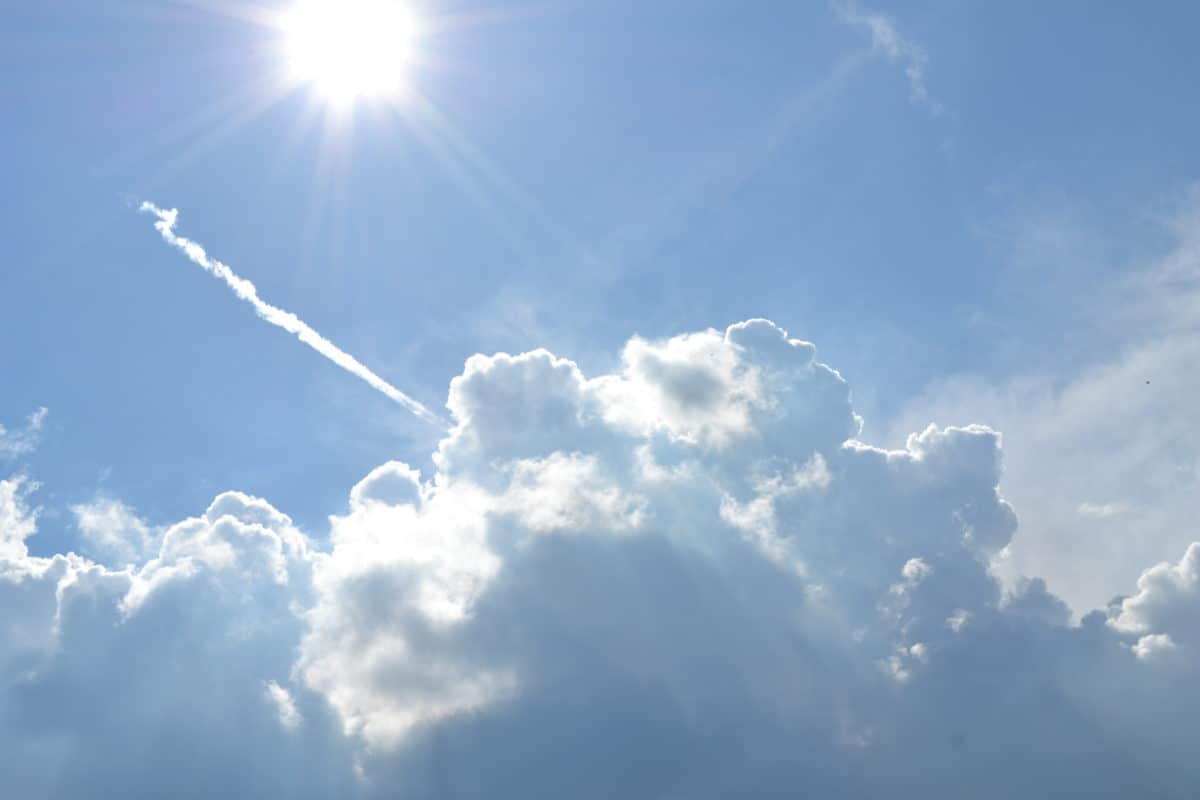 climate, condensation, high, nature, Heaven, sky, sun, daylight, cloud, air, airplane