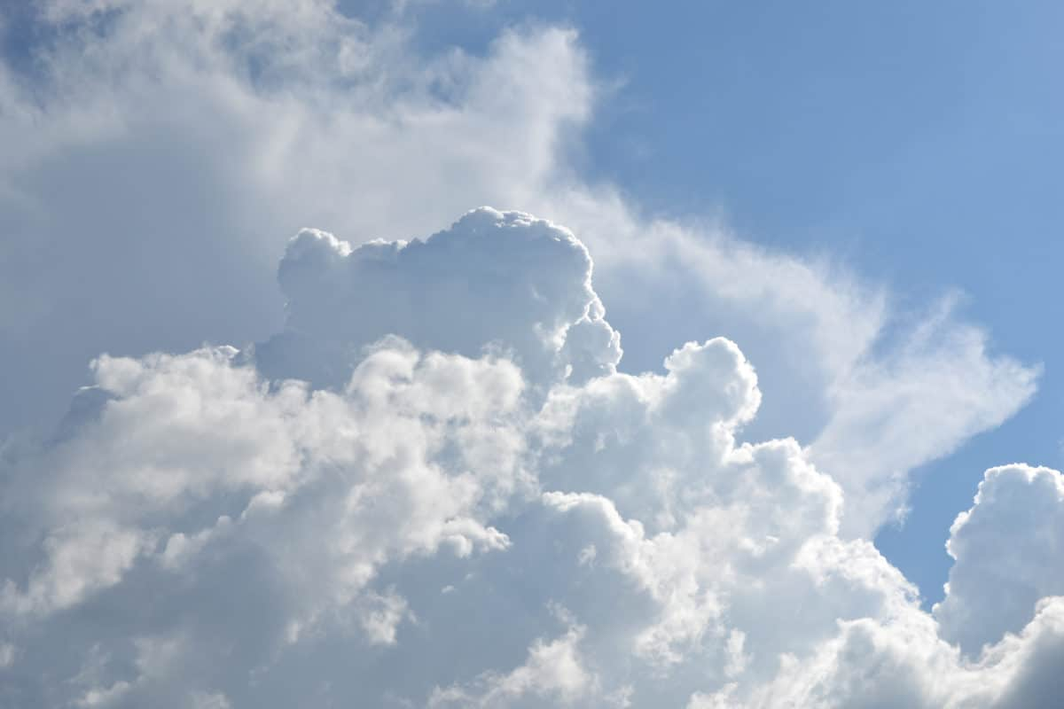 sommaren, moln, sky, klimat, kondens, hög, molnigt, naturen, solen, landskap