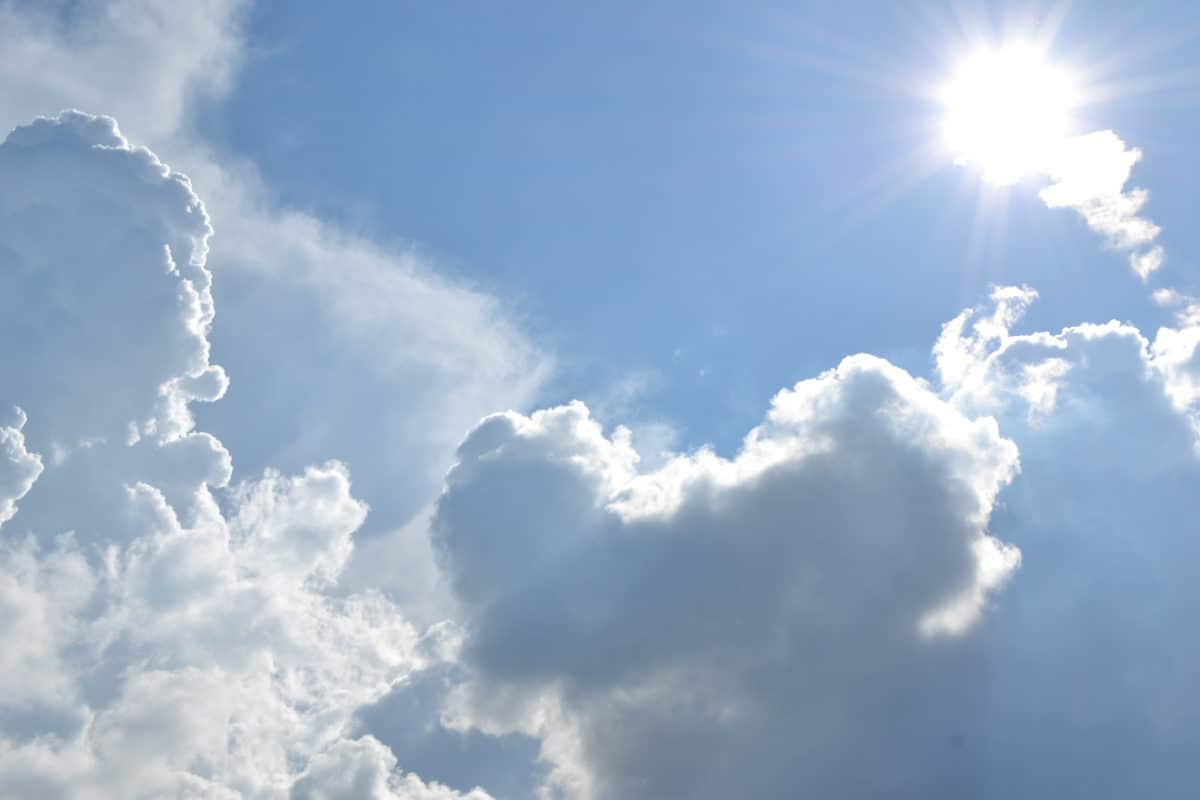 meteorology, sun, nature, Heaven, high, blue sky, summer, cloud