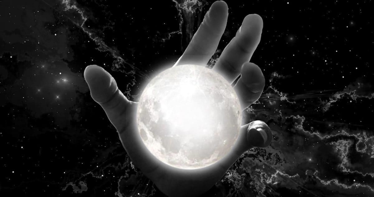 planet, moon, photomontage, monochrome, arm, sphere, light, globe, universe