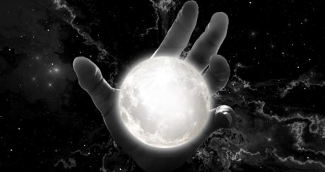 planet, moon, photomontage, monochrome, arm, sphere, light, globe, universe