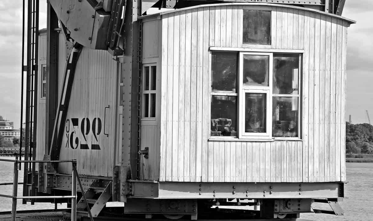 ventana, casa, máquina, grúa, metal, industria