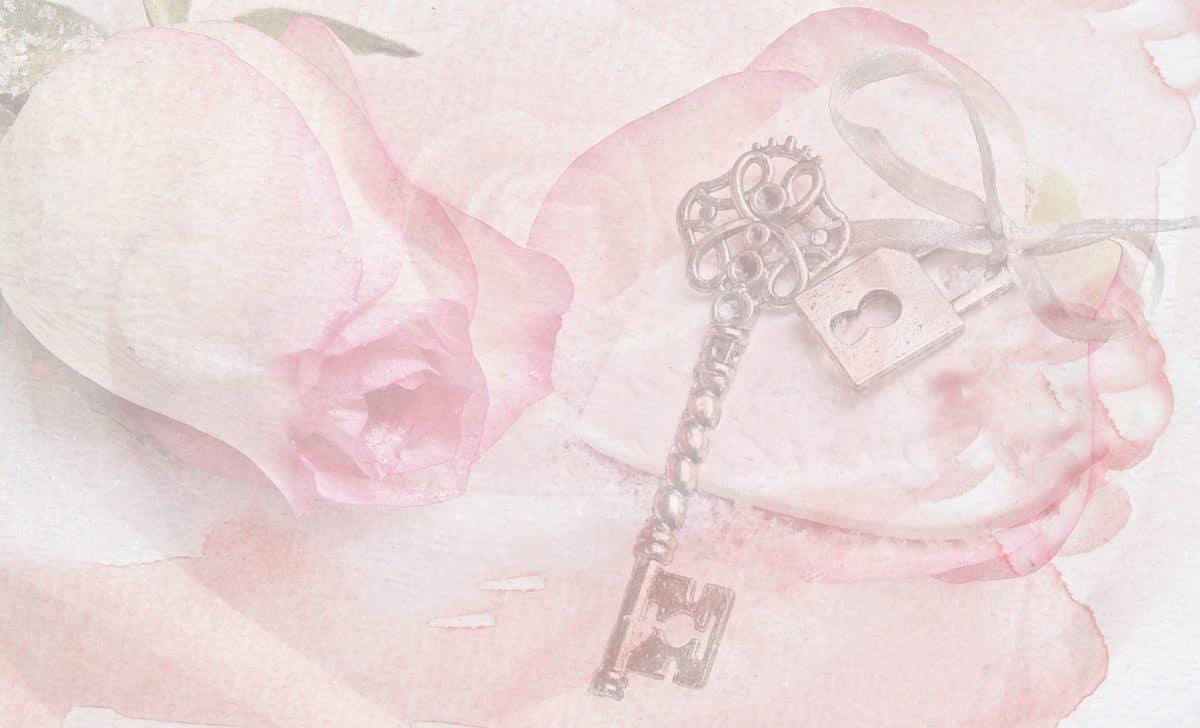 fotomontasje, papir, rose, blomst, akvarell, maleri, kunst