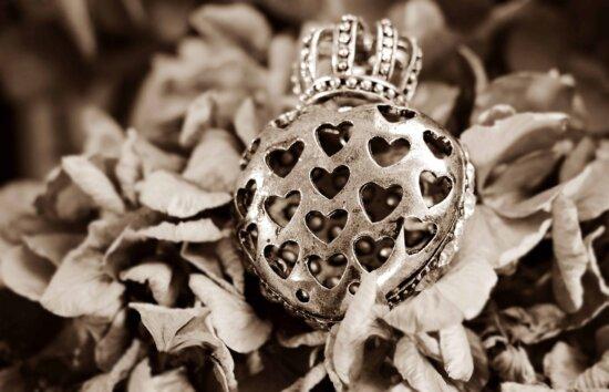 metal, bijuterii, monocrom, sepia, metal, coroana, frunze, toamna