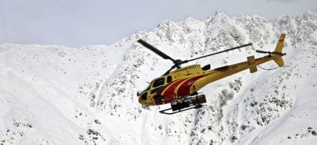 winter, cold, helicopter, flight, snow, mountain, vehicle, ice, sky