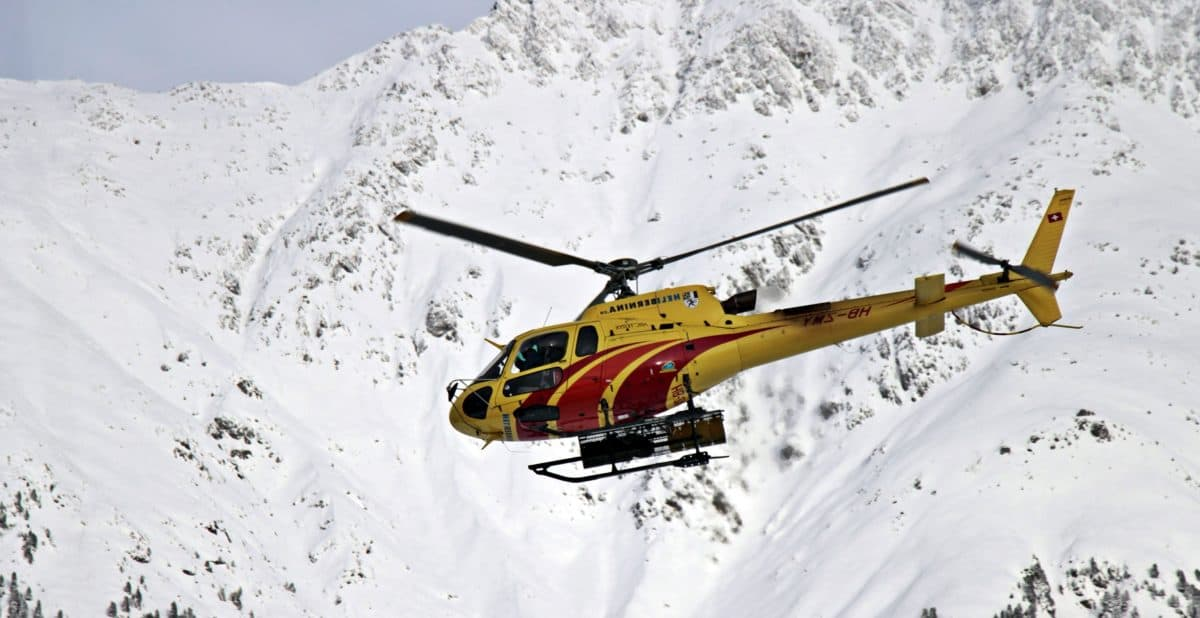 snow, helicopter, winter, aircraft, cold, mountain