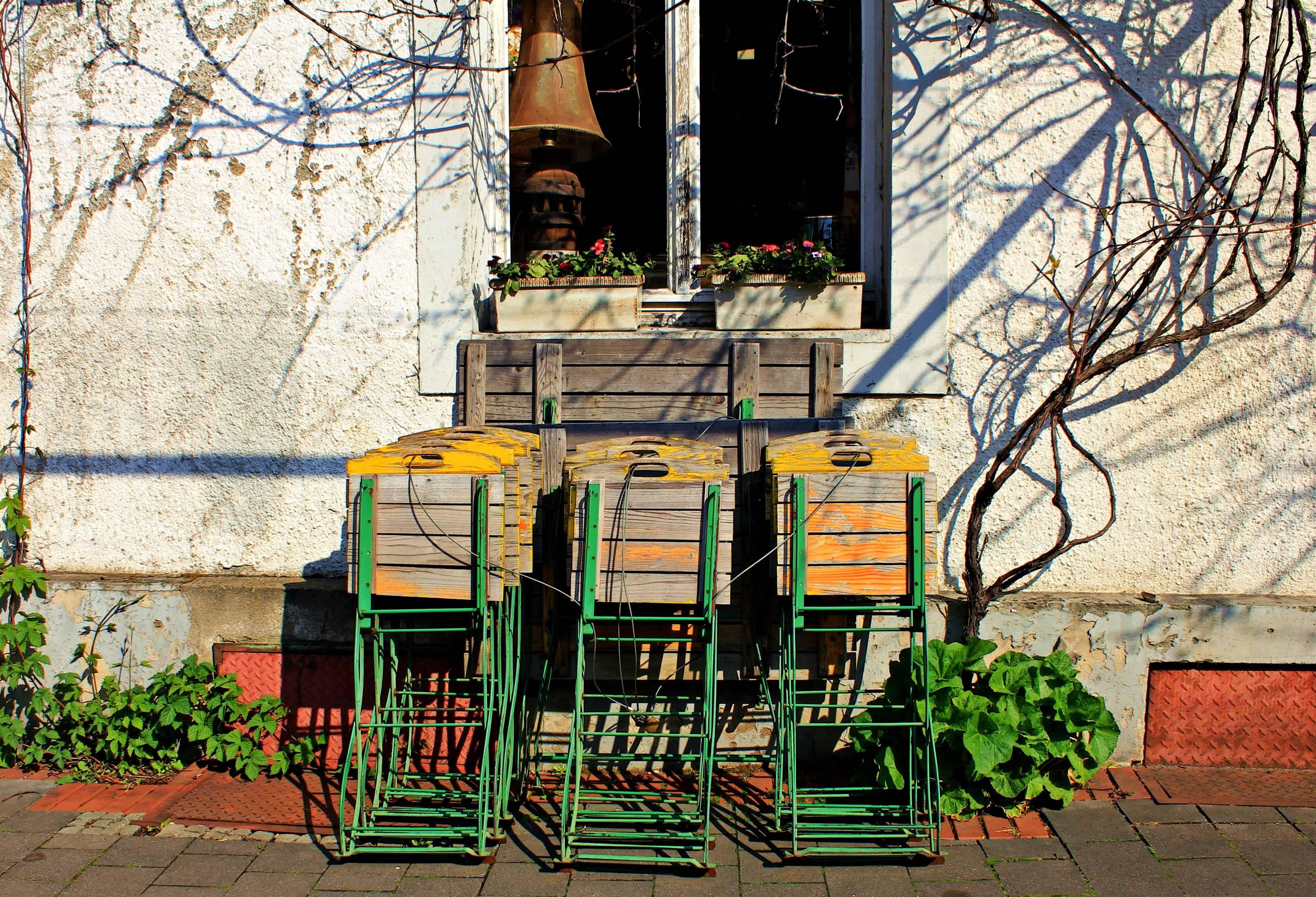 Imagen Gratis Silla De Madera Exterior Sombra Planta Exterior - Plantas-sombra-exterior