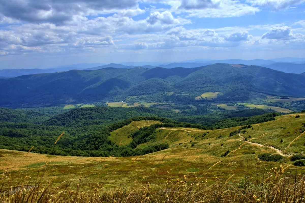 montagne, colline, paysage, nature, herbe en plein air, ciel,