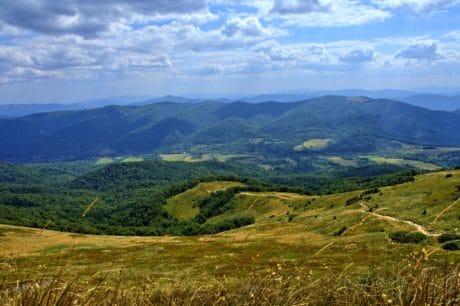 montagna, collina, paesaggio, natura, erba, cielo,