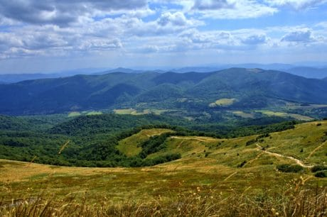 Berg, Berg, Landschaft, Natur, Himmel, outdoor, Rasen