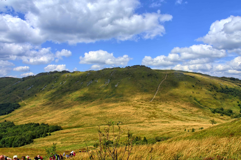Free Picture Hilltop Nature Landscape Blue Sky Knoll