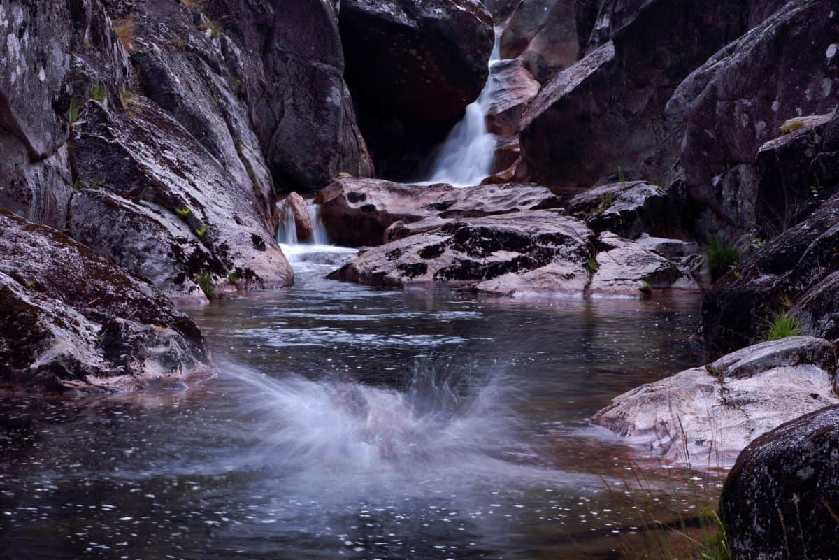 river, water, nature, waterfall, stream, stone, canyon, landscape
