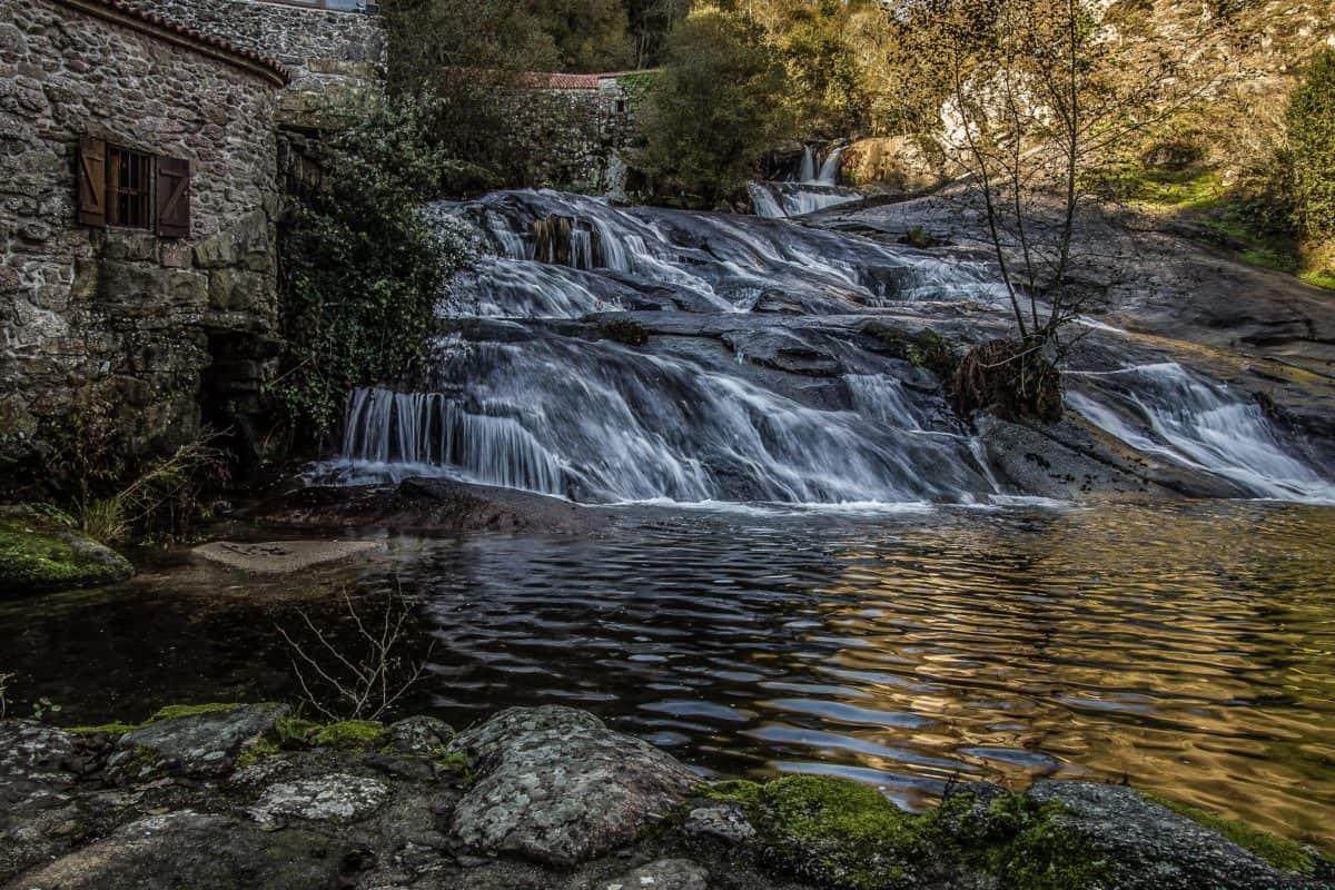 cascata, acqua, legno, fiume, paesaggio, Parco nazionale, flusso, natura