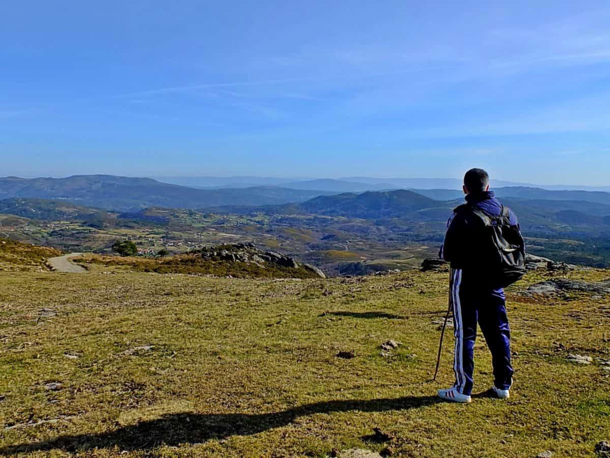 vandring, hill, berg, landskap, himlen, Utomhus, gräs, fält, man