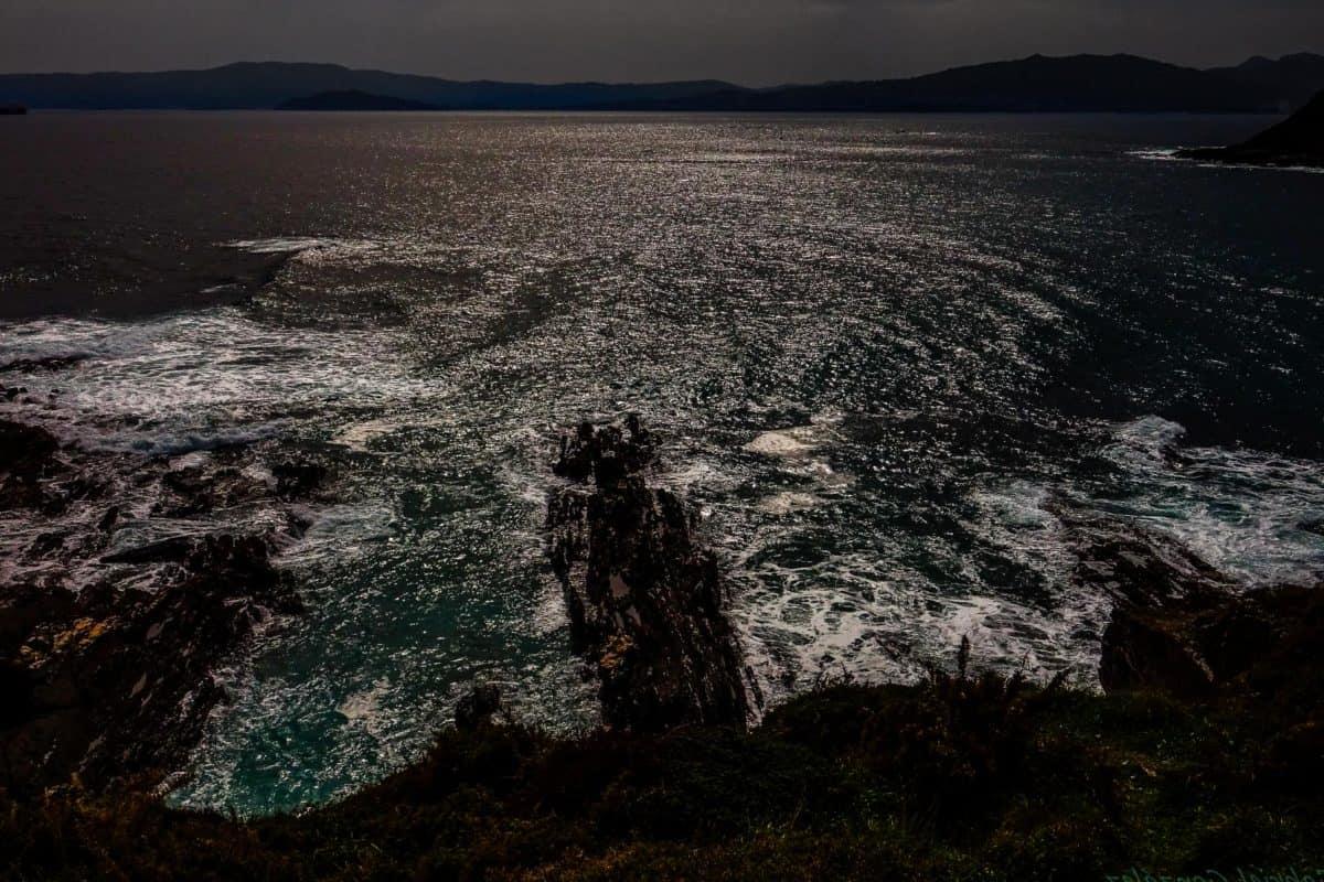 crépuscule, océan, eau, mer, plage, mer, paysage, sable, ciel