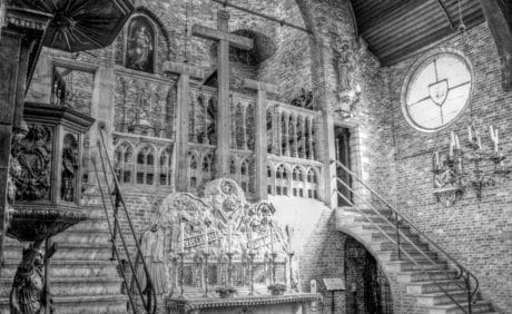 architecture, ancien, église, monochrome, religion, art, christianisme