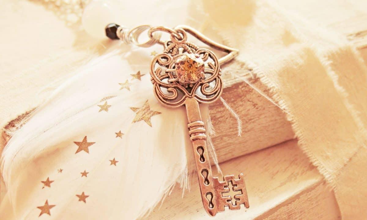 nyckel, stilleben, bok, dekoration, gåva, metall, design, konst, stjärna