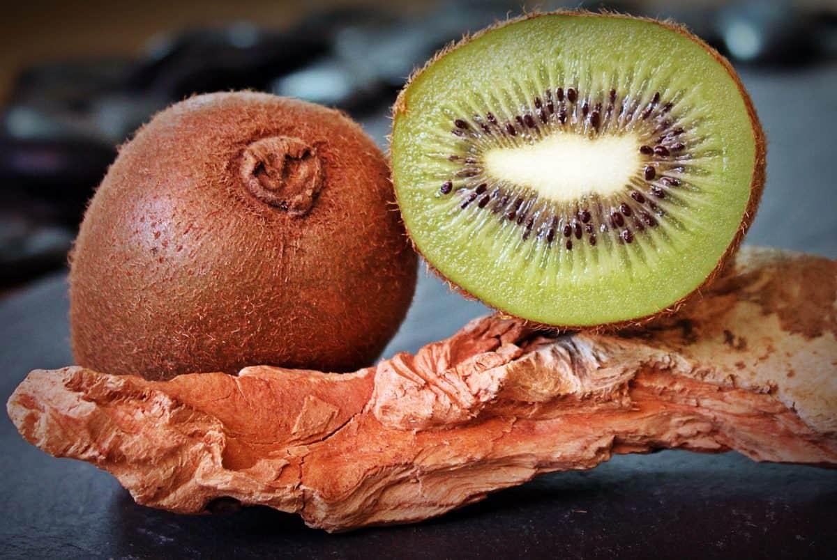 biologisch fruit, voedsel, kiwi, dieet, vitamine, slice