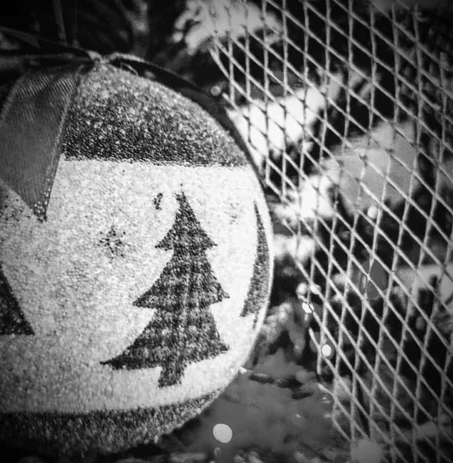 Natale, monocromatico, oggetto, regalo, sfera, decorazione, materiale