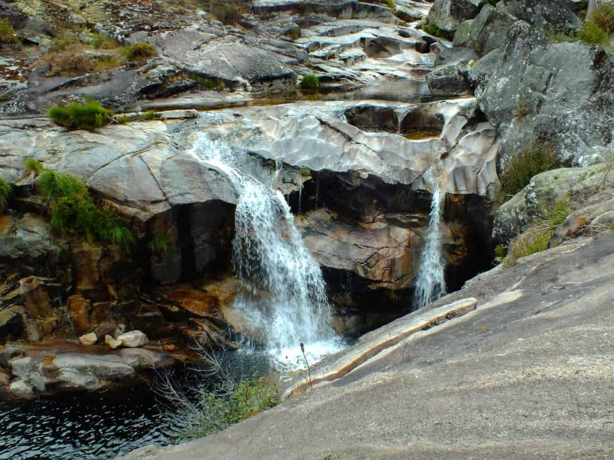 stone, waterfall, nature, river, wood, stream, landscape, water