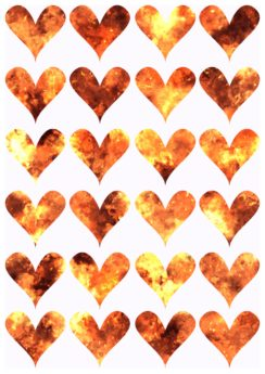 red heart, shape, design, romance, art, pattern