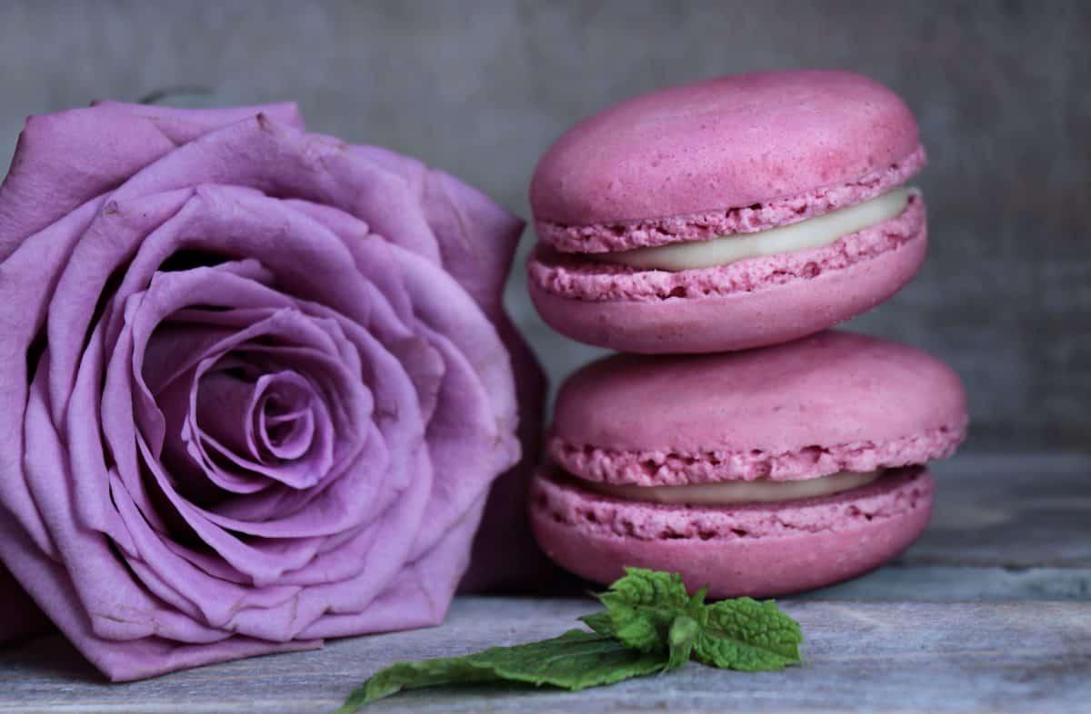 цветок, Роза, сладкий, розовый, десерт, малина, украшение