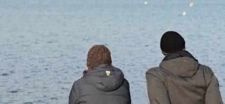 inverno, acqua, persone, persona, all'aperto, uomo