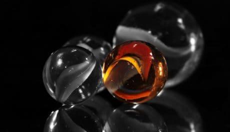 sfera di vetro, astratto, Dark, studio fotografico, riflessione, trasparente, fotografia, macro, dettaglio