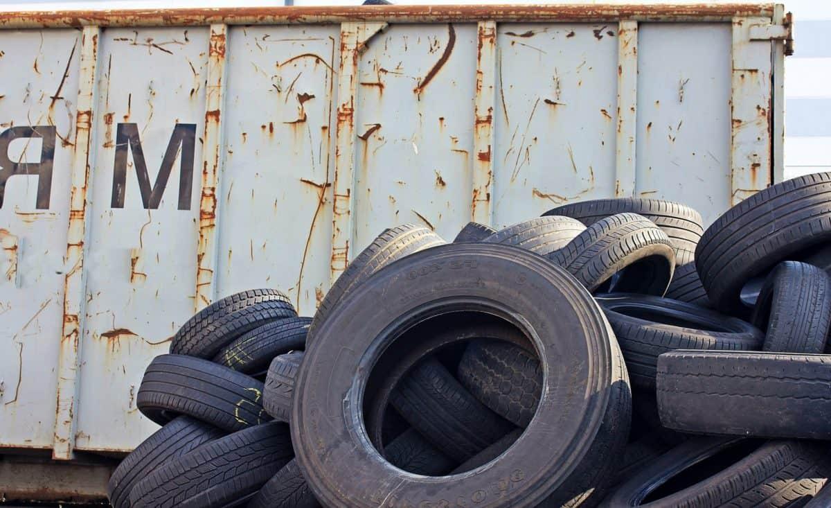 Rost, alte, Papierkorb, Garage, Reifen, Rad, Stahl, Industrie