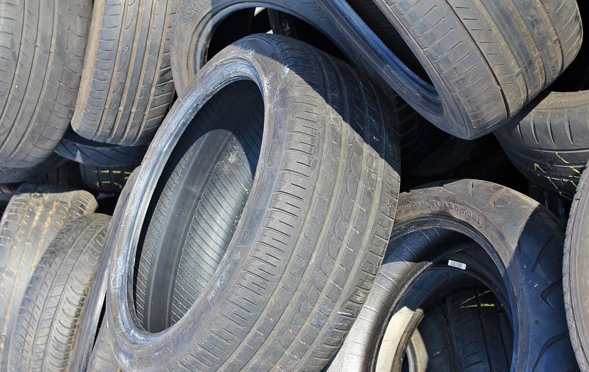 roue, pneu, garbage, ferrailleur, objet, noir
