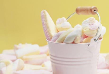 décoration, nourriture, dessert, seau, sucreries, rose, sucrerie