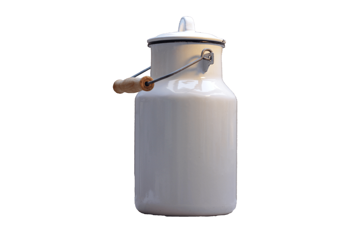 metal, milk container, object, material, reflection, lid, white