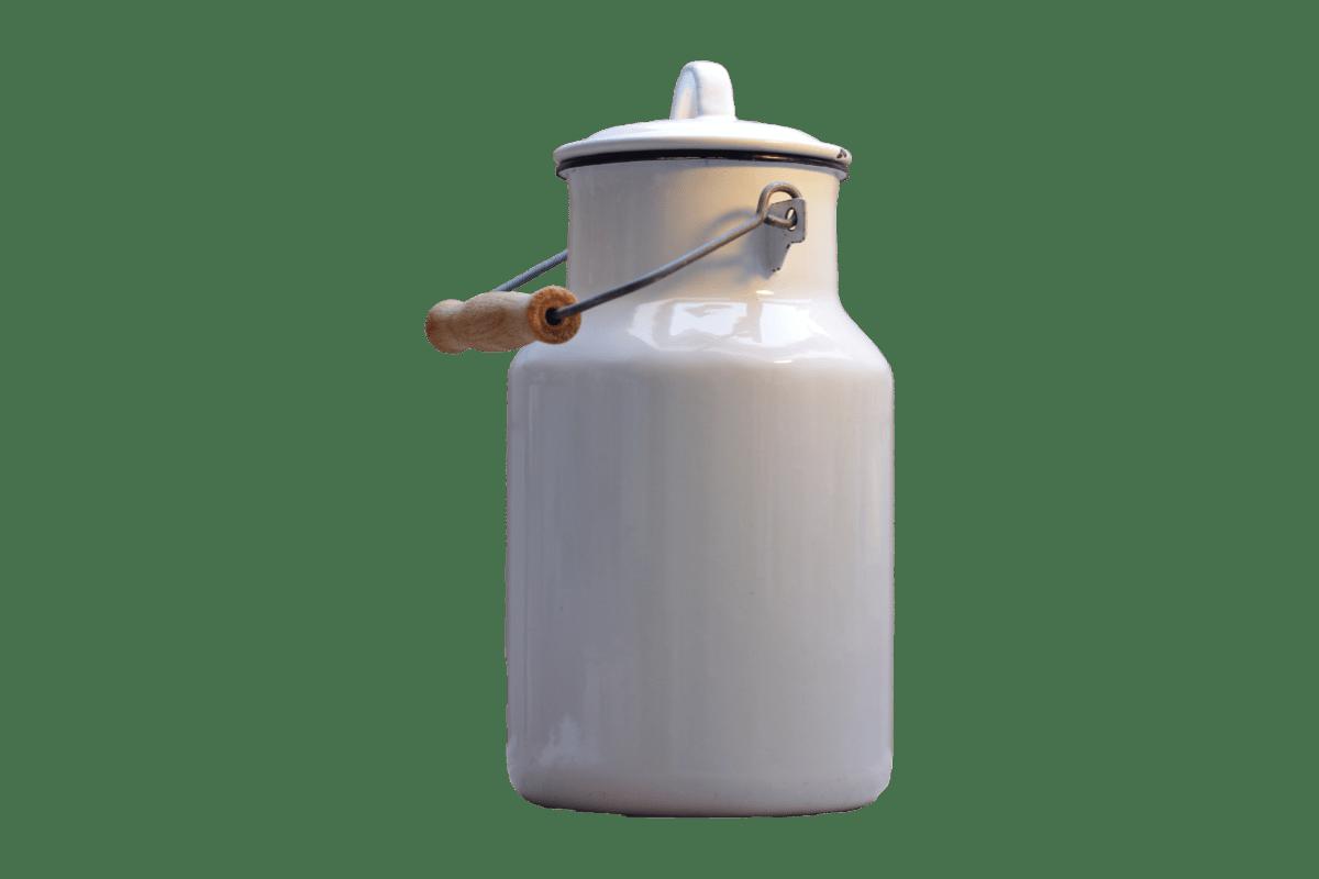 metal, contenedor de la leche, objeto, material, reflexión, tapa, blanco