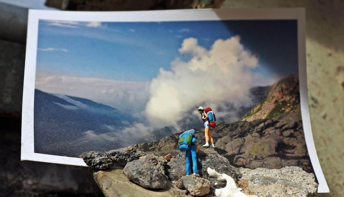 Foto studio, fotografija, čovjek, planina, Planinarski, nebo, stijena, dolina, pejzaž